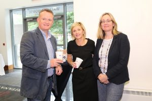 Pictured attending a coffee morning in aid of Hospice ay David M. Breen & Co., Chartered Accountants and Business Advisors were Barry Monaghan, Julie Laffan and Clair Grant.Photo: John Power