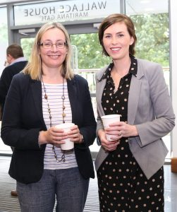 Pictured attending a coffee morning in aid of Hospice at David M. Breen & Co., Chartered Accountants and Businesx Advisors were Clair Grant and Jenny Kiely.Photo: John Power
