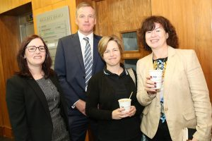 Pictured attending a coffee morning in aid of Hospice ay David M. Breen & Co., Chartered Accountants and Business Advisors were Caroline Bannon, David Breen, Florence Sweeney and Anne Marie PowerPhoto: John Power